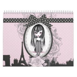 éMo Romantik Gothik París de Calendrier Calendario