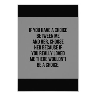 EMO SAD PAST LOVE CHOICE BETWEEN ME AND HER CHOOSE PERSONALIZED INVITES