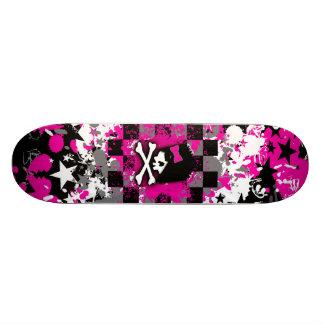 Emo Scene Girl Skateboard