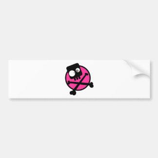 Emo Skull And Crossbones Bumper Sticker