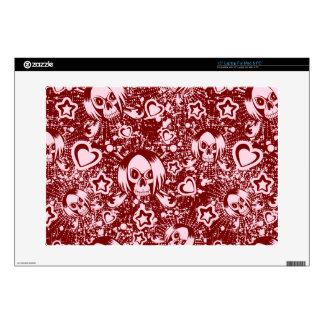 """emo skull background skins for 15"""" laptops"""