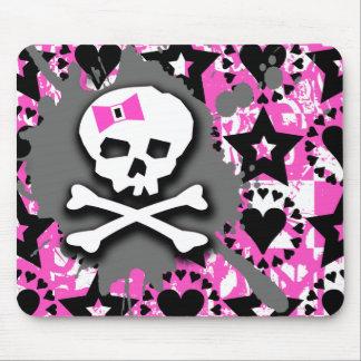 Emo Skull & Bones Mouse Pad
