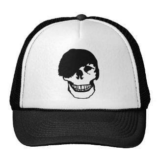 emo skull mesh hat