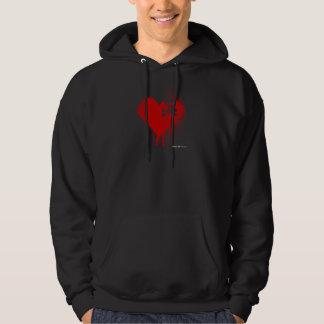 Emo Skull Heart Anti Valentines Day - Rock Grunge Hoodie