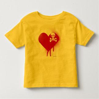 Emo Skull Heart Anti Valentines Day - Rock Grunge Toddler T-shirt