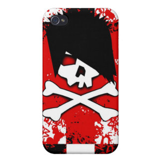 Emo Skull iPhone 4 Case