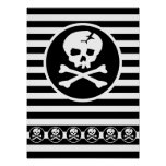 Emo Skull Patch Poster