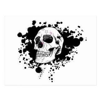 EMO Skull Postcard