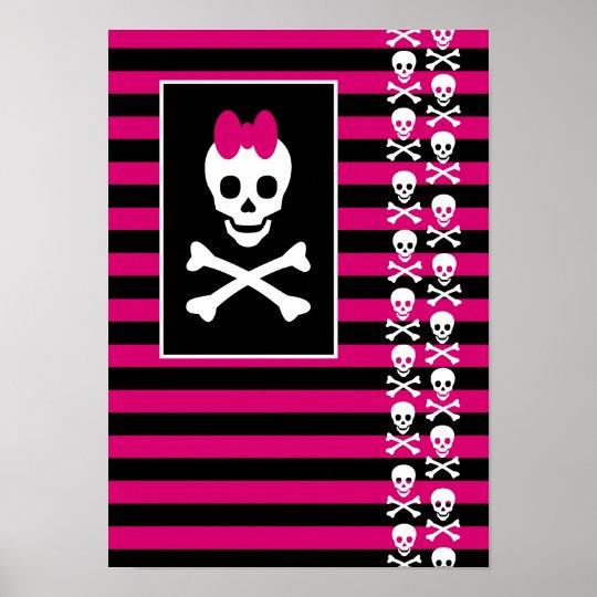 Emo Skull Princess Poster
