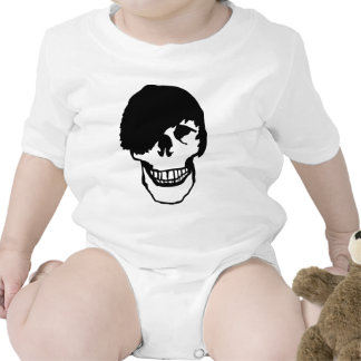emo skull baby bodysuit