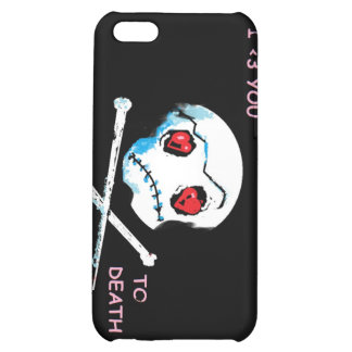 Emo Skulls Hearts I love you death accessory iPhone 5C Covers