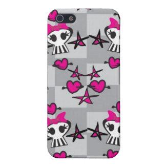 Emo Skulls Pattern Case For iPhone 5