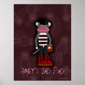 Emo Sock Monkey Customizable Poster