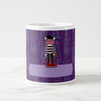 Emo Sockmonkey Large Coffee Mug