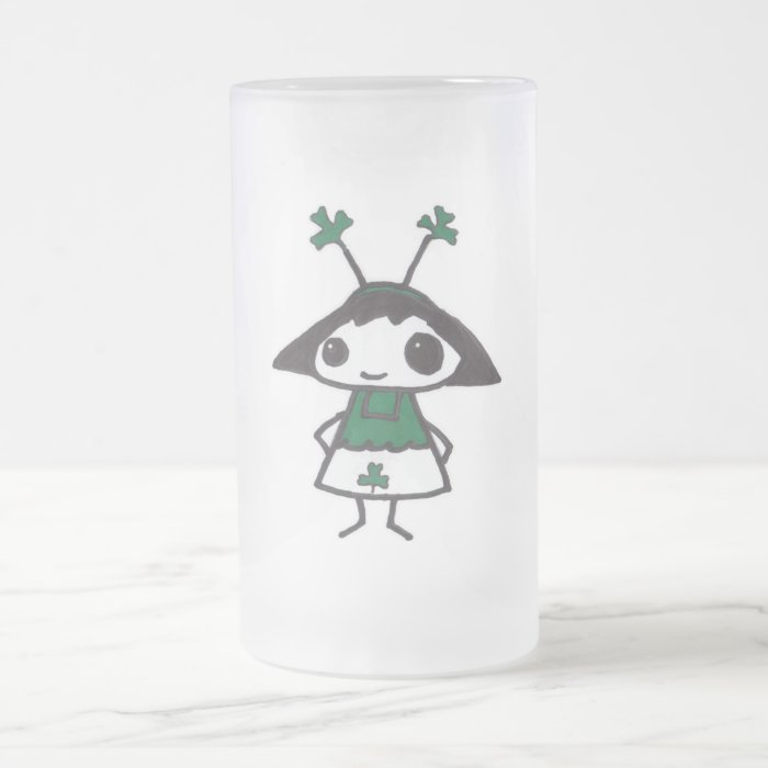 Emo St. Patty Frosted Glass Beer Mug