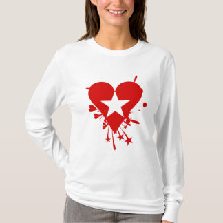 Emo Star Heart T-Shirt