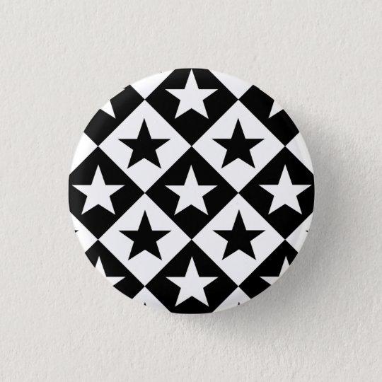 Emo Star Pattern Pinback Button