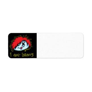 Emo Zombie (on dark backround) Label