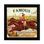 Emoción de la carrera de caballos del vintage de l cajas de joyas