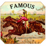 Emoción de la carrera de caballos del vintage de l esculturas fotográficas
