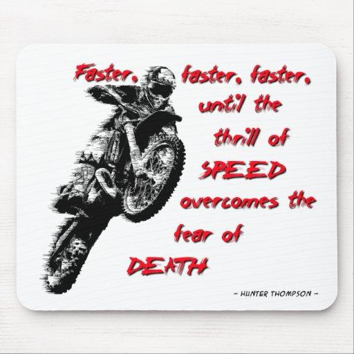 Emoción de la velocidad - motocrós Mousepad de la  Alfombrillas De Ratón