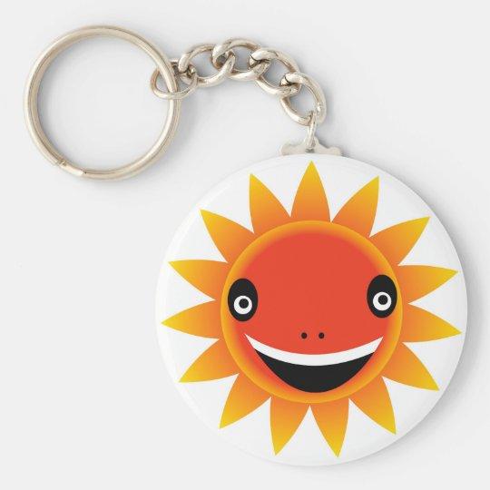 emoción del sol llavero redondo tipo pin