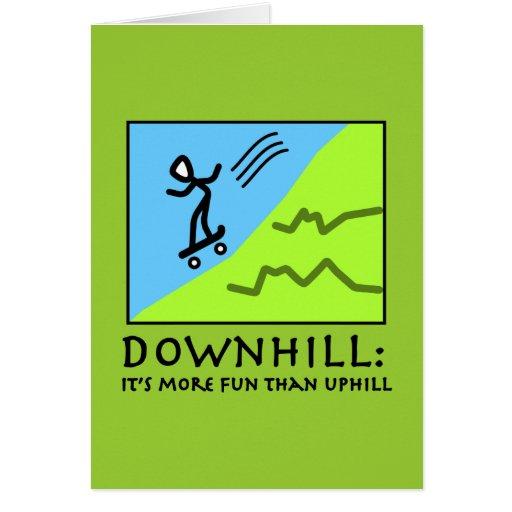 Emoción en declive - andando en monopatín tarjeta de felicitación