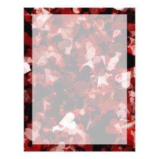 """Emoción roja de los corazones del amor verdadero folleto 8.5"""" x 11"""""""