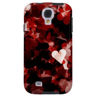 Emoción roja de los corazones del amor verdadero funda para galaxy s4