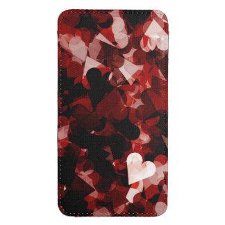 Emoción verdadera roja y negra de los corazones bolsillo para galaxy s4
