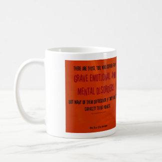 Emocional grave y trastornos mentales taza de café