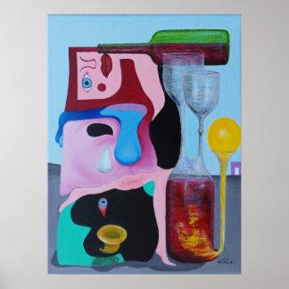 Emociones abstractas expresadas en pintura póster