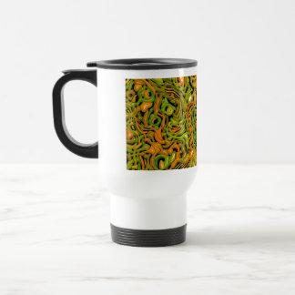emociones complejas, naranja verde (c) taza de viaje