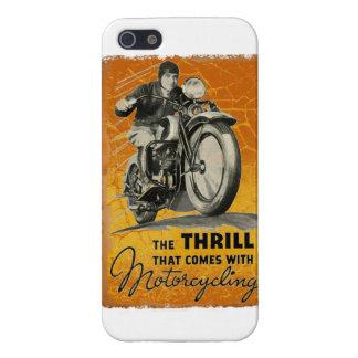 Emociones de la motocicleta del vintage iPhone 5 cárcasas