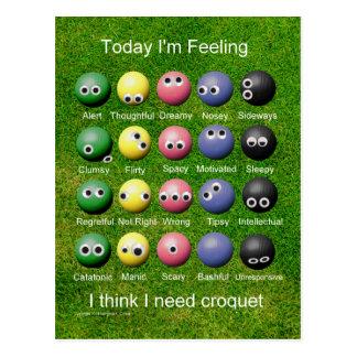 Emociones del croquet postales