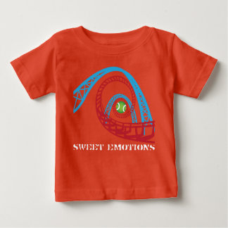 Emociones dulces para los niños playera de bebé
