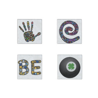 Emoji-art magnets, true conversation pieces stone magnet
