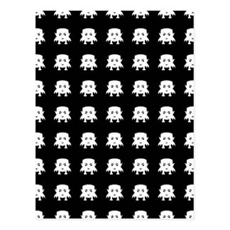 Emoji Baby Vampires Pattern Postcard