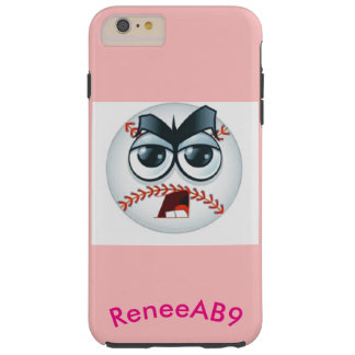 Emoji Baseball Umpire Curve Ball Pink by ReneeAB9 Tough iPhone 6 Plus Case