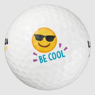 Emoji Be Cool Golf Balls
