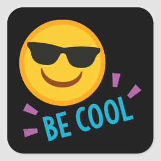 Emoji Be Cool Square Sticker