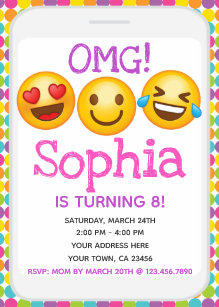 emoji invitations zazzle