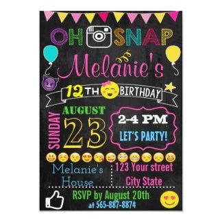 Emoji Birthday invitation card