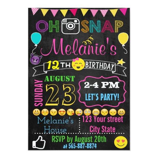 Emoji Birthday Invitation Card Zazzle Com