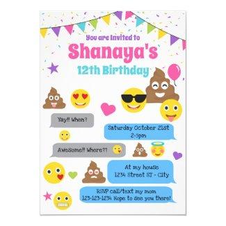 Emoji birthday invitation, Emoji Party Invite