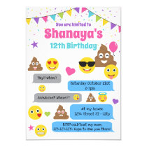 Emoji birthday invitation, Emoji Party Invite