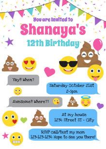Emoji Party Invitation Template