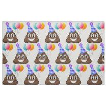 Emoji Birthday Poop Party Fabric