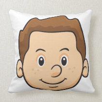 Emoji: Boy Throw Pillow