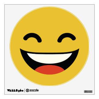 Emoji brillante estupendo divertido de la sonrisa vinilo
